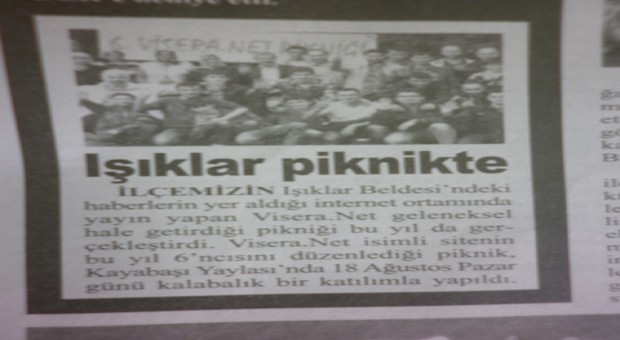 6. visera.net pikniği gazetede…